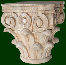 beautiful one of a kind decorative columns, capitals, and keys