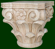 decorative columns, keys, and capitals created from quality wood, oak, maple, cherry, walnut, mahogany, pine and more
