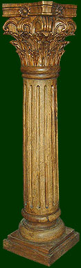 wood carved decorative column