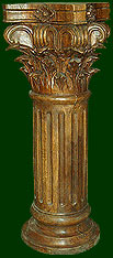 hand carved decorative columns