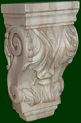 beautifully hand crafted wood corbels 2