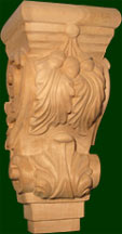 hand carved wood corbels