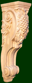 hand crafted wood corbels