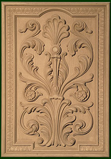 custom carved wood doors