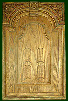 hand crafted wooden carved door
