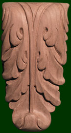 wooden corbels-hand carved